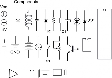 Electronic Components clip art vector, free vector