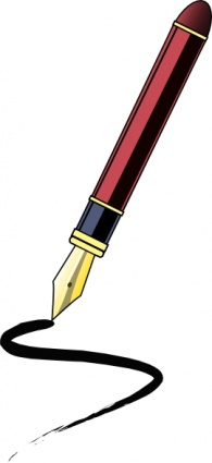 Image result for clipart pen writing