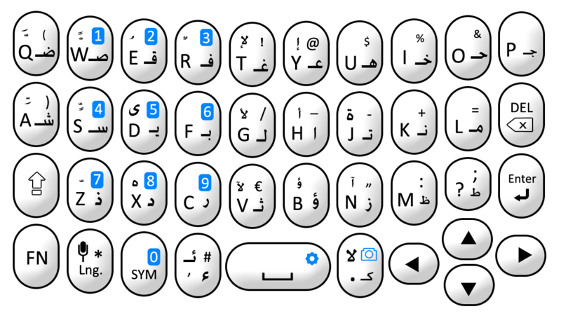 Arabic Keyboard for Smartphone Vector free vector