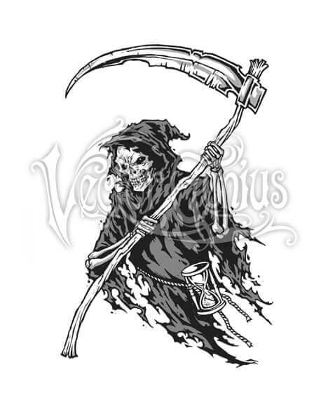 Grim Reaper Clipart : reaper, clipart, Scary, Halloween, Reaper, ClipArt, VectorGenius