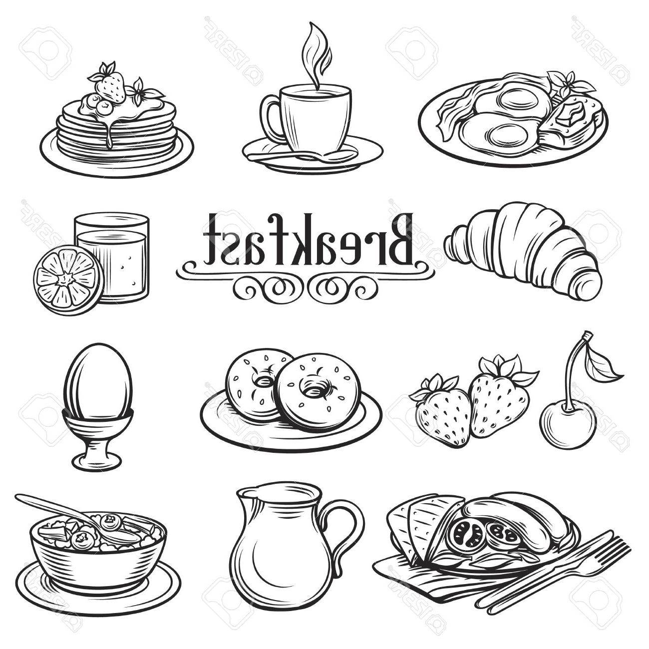 Breakfast Food Coloring Pages At Getdrawings