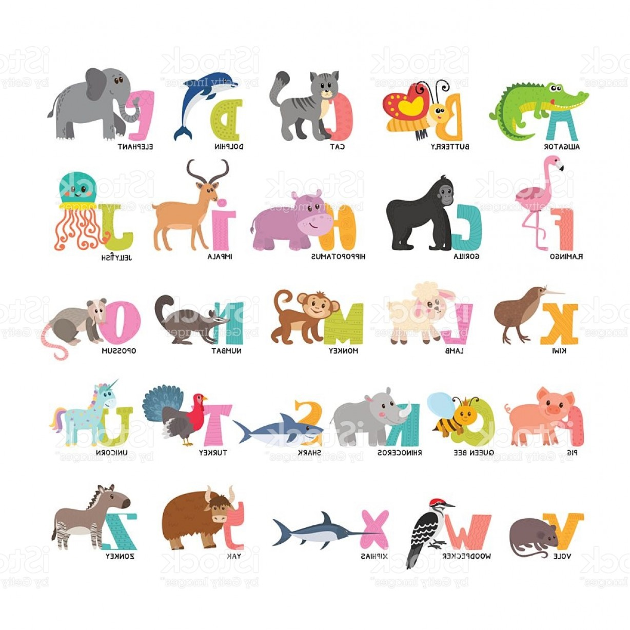 Cartoon Alphabet Vector At Vectorified