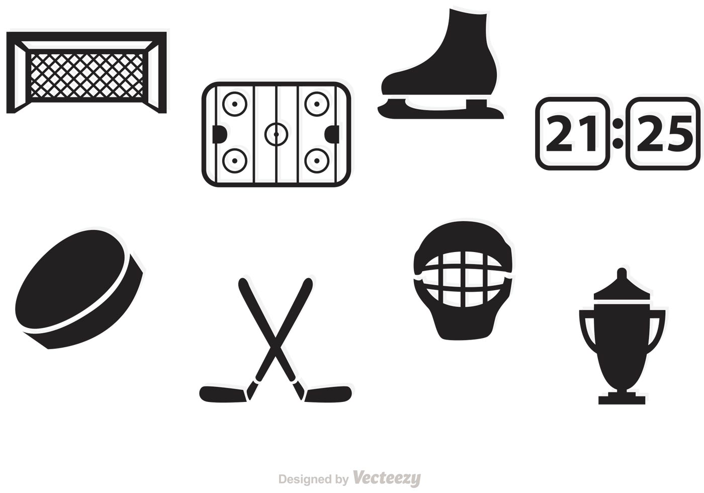Crossed Hockey Sticks Vector At Vectorified