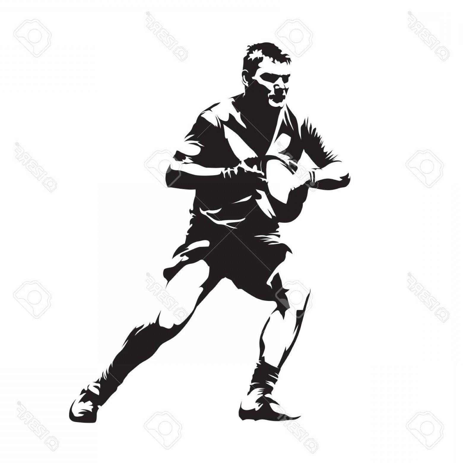 Rugby Player Vector At Vectorified