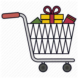 cart shopping icon trolley vectorified