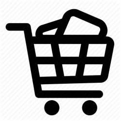 icon shopping cart trolley vectorified