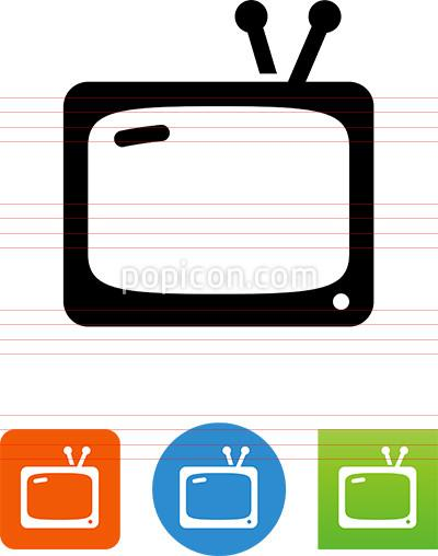 Tv Antenna Icon At Vectorified Com Collection Of Tv