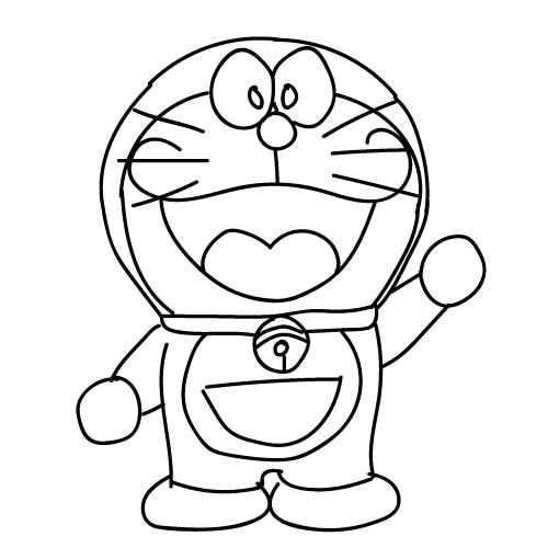 35+ Doraemon Gambar Animasi Kartun Hitam Putih