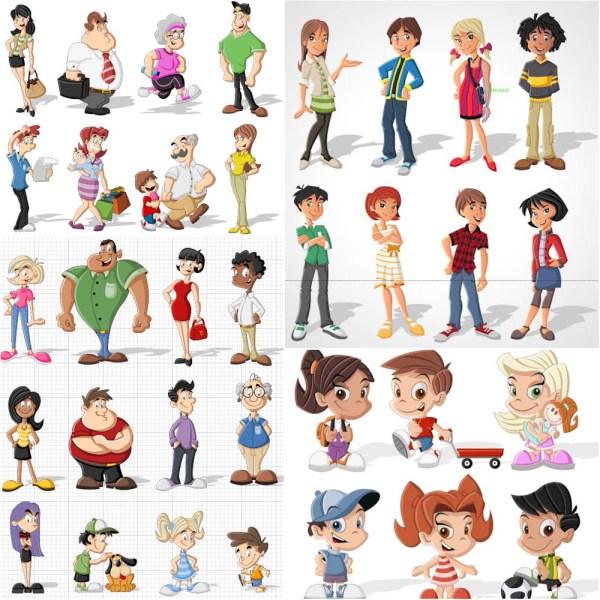 cartoon people vector free