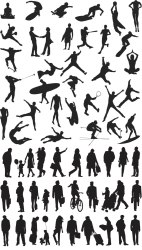 People silhouette templates vector 2020 free download VectorPicFree Free Ai Eps