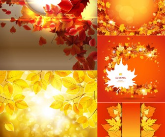 beautiful autumn frames and backgrounds