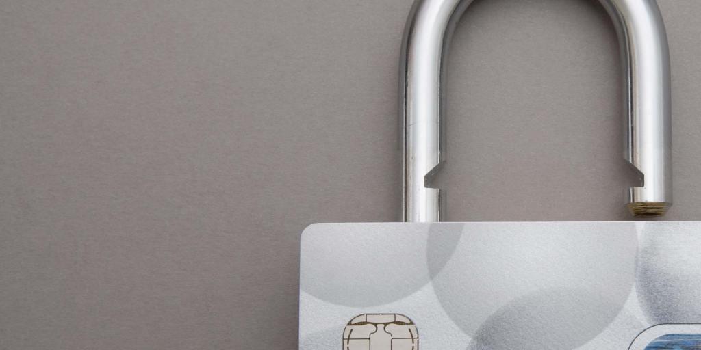 Figurative Lock on a Credit Card