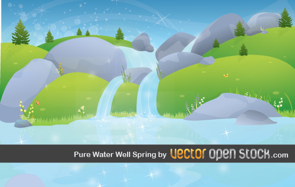 Download Wallpaper Cartoon 3d Spring Landscape Wallpaper Vector Free Vector Art