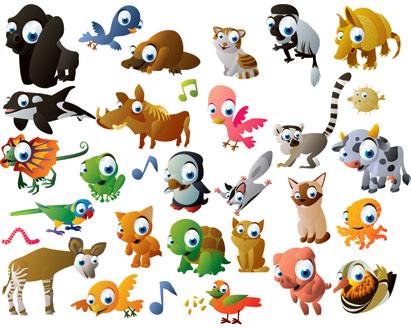 Cute Cartoon Elephant Wallpaper Cartoon Animal Vector Pack Ai Svg Eps Vector Free Download