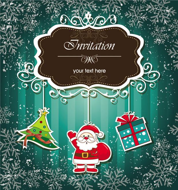 Christmas Invitations Vector Elements Ai Svg Eps