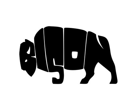 The Bison logo by Seamus Leonard is an excellent example of how letters of a word can be distorted to create a completely different shape to reinforce its meaning while maintaining readability.