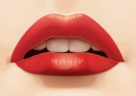 Vectoring a Pair of Luscious Lips in Illustrator CS6 from Stock