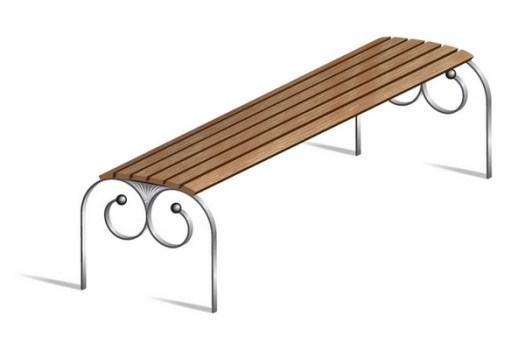 How to Illustrate a Vector, Street Bench
