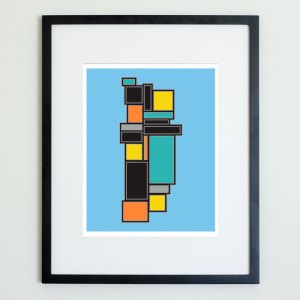 Colorblock Structure Print No 3