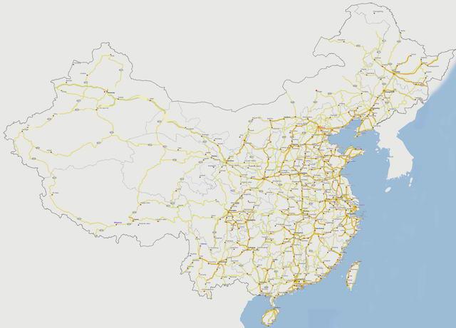 карта автомобильных дорог Китая