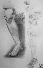 Drawing In The High Art School book - pencil leg anatomy