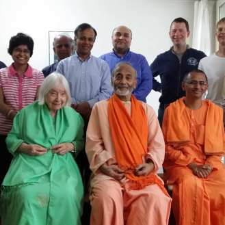 Group meeting with Rev. Swami Amaranandaji and Rev. Swami Bhudevanandaji