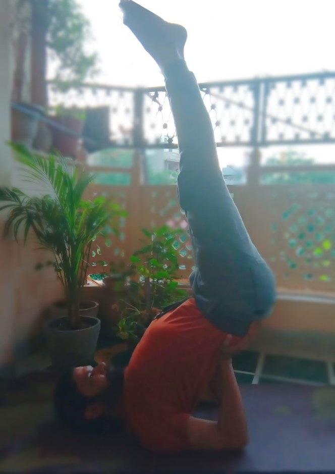 Vipreet karani the inverted pose. A Yoga asana which cures many diseases