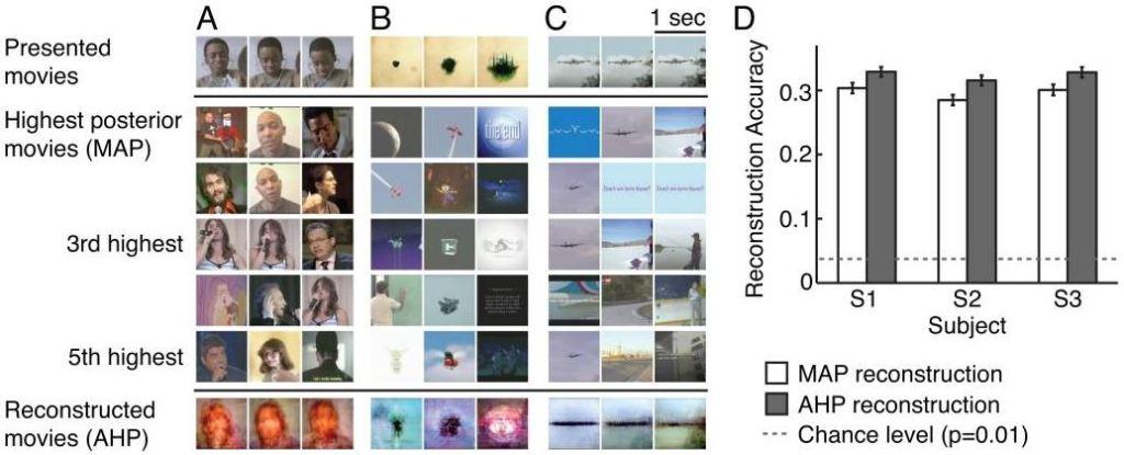 Interpretovanie vizuálneho stimulu v mozgu pomocou počítača.