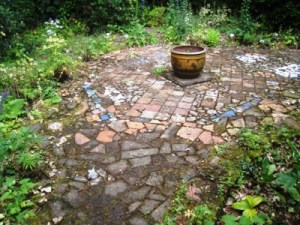 Mosaic at the Laskett copyright Anne Wareham