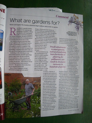 What Are Gardens For? plus shameless self promotion..