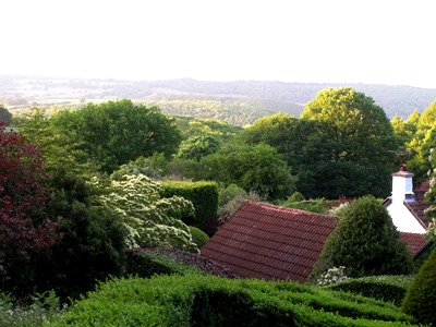 View out of the garden across to the landscape, Veddw, copyright Anne Wareham Mid June 2013 053 s