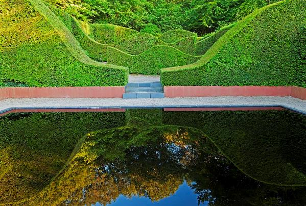 Reflecting Pool, Veddw, copyright Anne Wareham