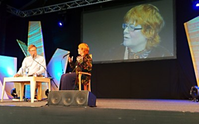 Anne at Hay Festival with Tim Richardson