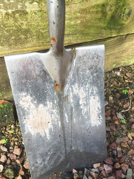 Broken spade, Veddw, copyright Anne Wareham