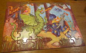 Ridder, draak en prinses / Knight, dragon and princess