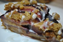Plum Tart with Apricot Crumble: https://vedgedout.com/2012/10/16/layered-plum-tart-with-apricot-crumble/