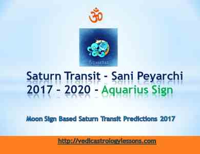 Satunr Transit 2017 - 2020 for Aquarius Sign - Sani Peyarchi Plalangal 2017 for Kumbha Rasi