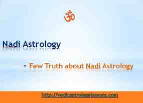 Truth about Nadi Astrology