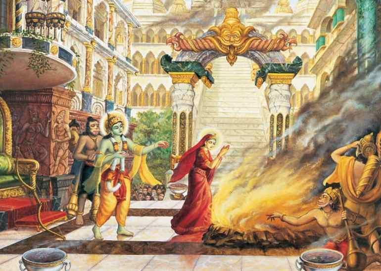 Sita Agni Parikshya