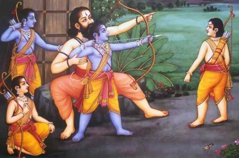 Rishi Vasishtha Teaching Rama and his Brothers