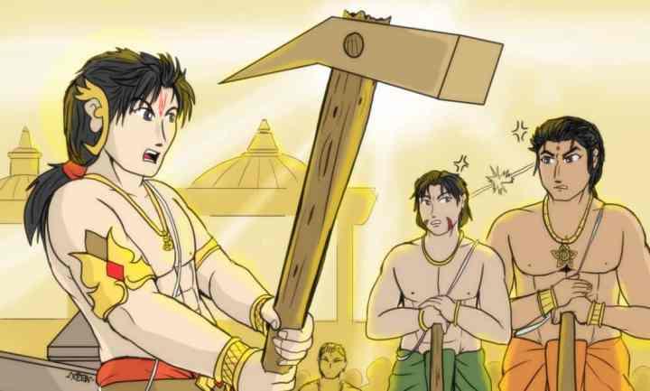Balarama-Bhim-Duryodhana