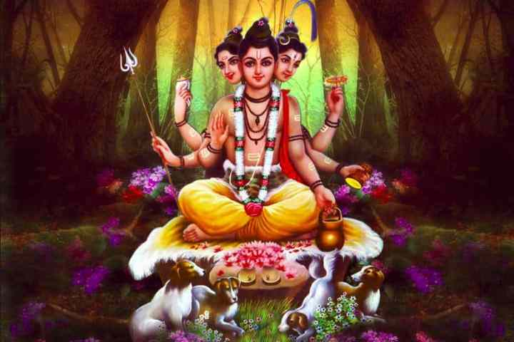 The Legends Lord Dattatreya - Manifestation in two different versions