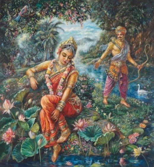 Goddess Ganga and King Shantanu