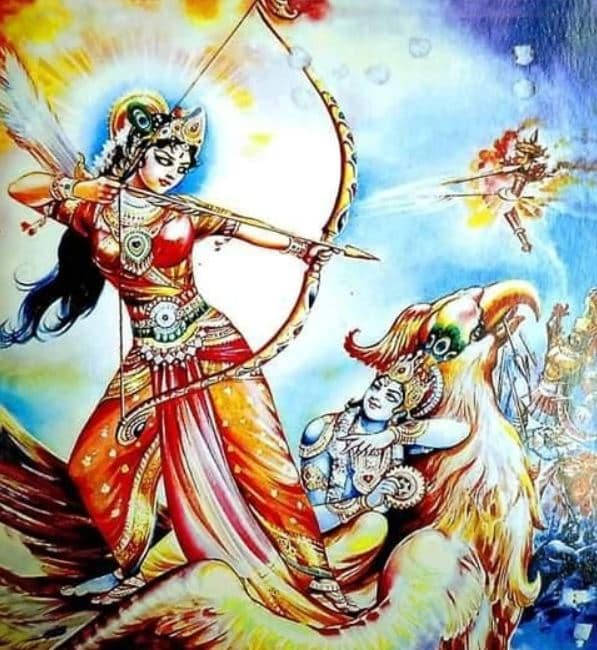 satyabhama killing narakasura