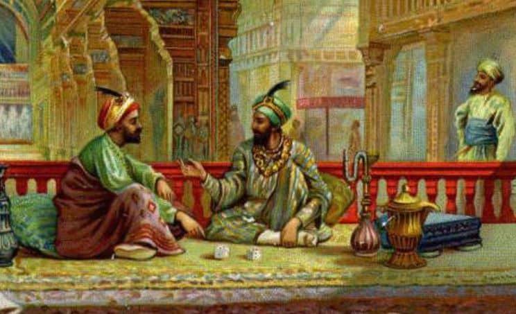 pushkara and nala playing dice