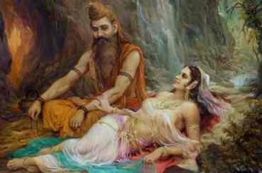Rishi Vishvamitra and Menaka