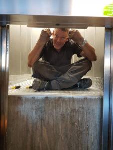 Onderhoud camera in de lift Appartementencomplex Amsterdam
