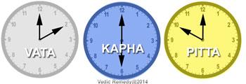 3ドーシャの時間区分 - The time for 3 Doshas