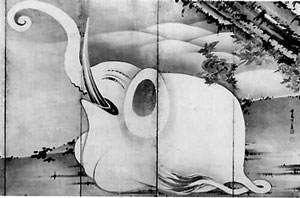 Sumie Painting of Jakujyu Itoh<br />