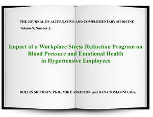 Impact of a Workplace Stress Reduction Program on Blood Pressure and Emotional Health in Hypertensive Employees